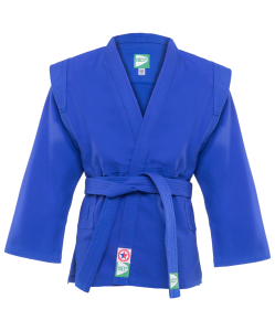 Куртка для самбо JS-302, синяя, р.6/190, Green Hill