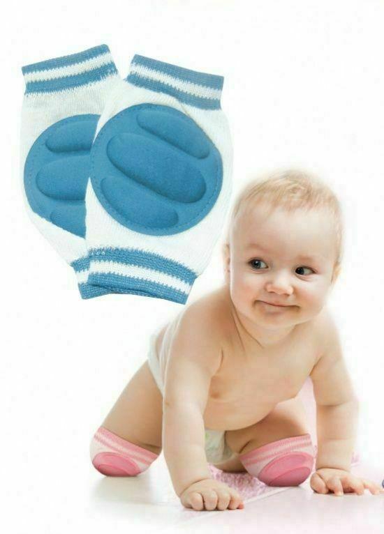 Наколенники детские для ползания голубые BRADEX DE 0135