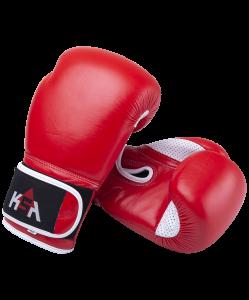 Перчатки боксерские Wolf Red, кожа, 12 oz, KSA
