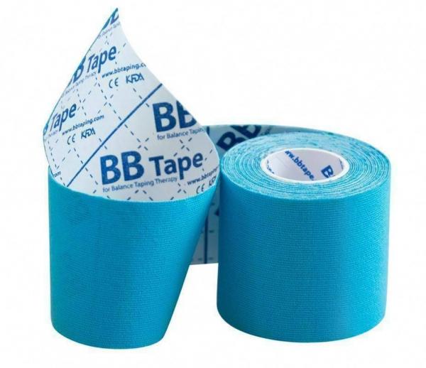 Кинезио тейп BBTape™ 5см × 3м голубой