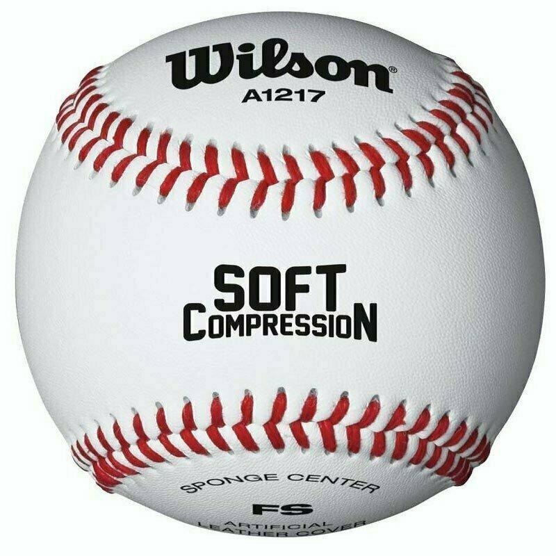 Мяч для бейсбола Wilson Soft Compression, арт.WTA1217B, синтет.кожа, резин.сердцевина, белый