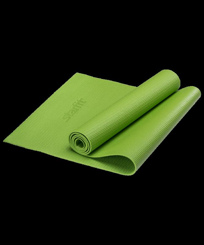 Коврик для йоги FM-101, PVC, 173x61x0,4 см, зеленый, Starfit