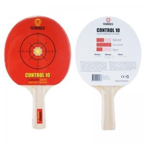 Ракетка для настольного тенниса TORRES Control 10, арт.TT0001, для начинающих, накладка 1,5 мм, конич. ручка