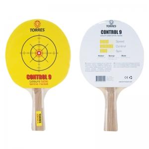 Ракетка для настольного тенниса TORRES Control 9, арт.TT0002, для начинающих, накладка 1,8 мм, конич. ручка