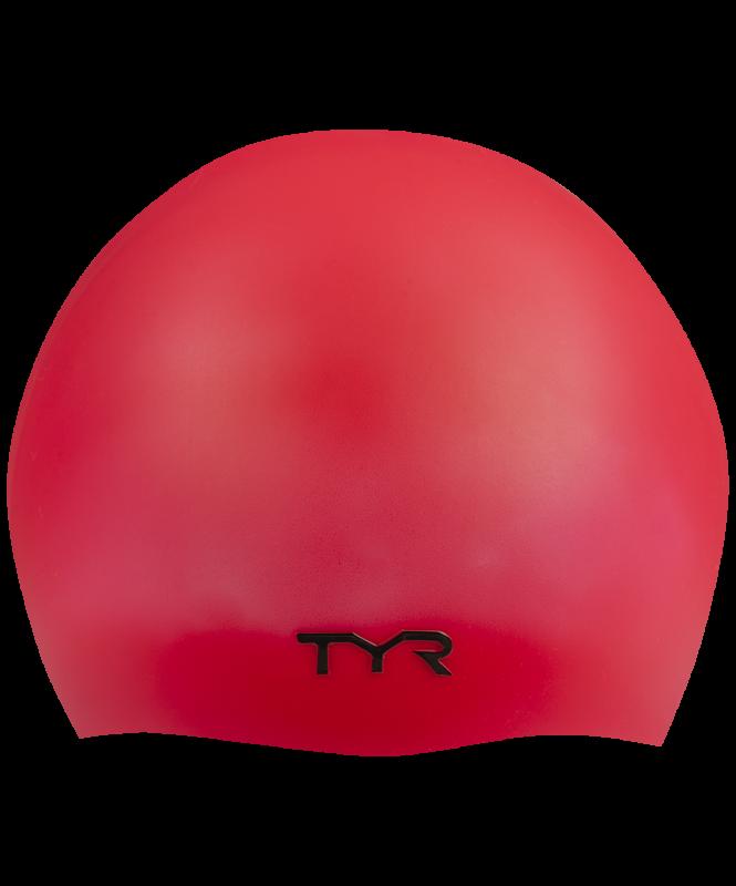 Шапочка для плавания Wrinkle Free Silicone Cap, силикон, LCS/610, красный, TYR