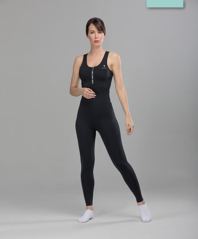 Женский спортивный комбинезон Balance FA-WO-0101, черный, FIFTY