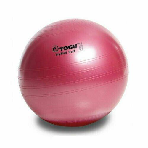 Мяч гимнастический TOGU My Ball Soft 75 см красный пелрамутровый