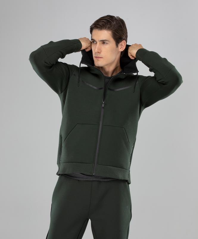 Мужская спортивная толстовка Balance FA-MJ-0103, хаки, FIFTY