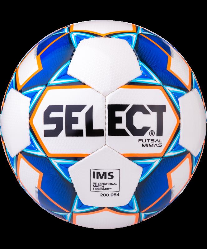 Мяч футзальный Futsal Mimas IMS 852608 №4, белый/синий/оранжевый/черный, Select