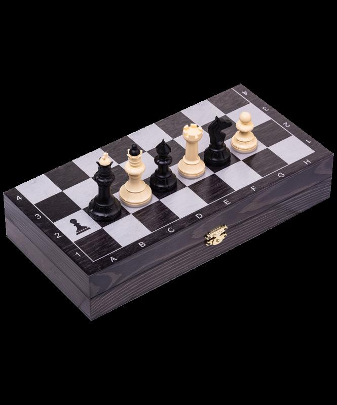Игра 3 в 1 Классика дорожная, черно-серебряный,100-12, Colton