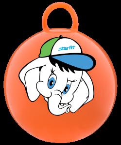 Мяч-попрыгун Слоненок GB-401, 45 см, с ручкой, оранжевый, Starfit