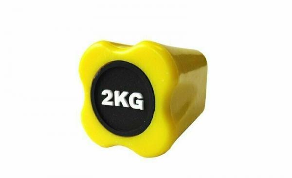 Бодибар FT 2 кг желтый наконечник Original FitTools FT-BDB-2