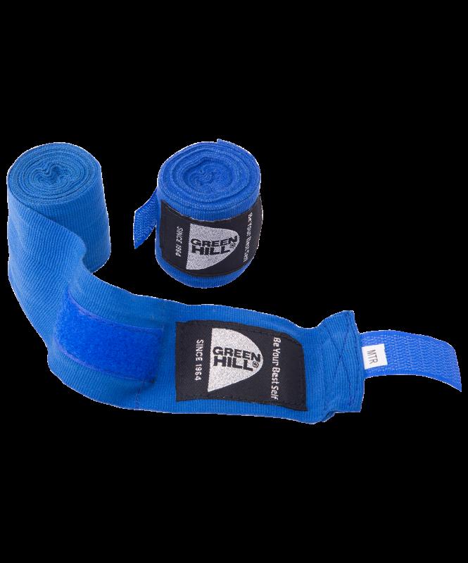 Бинт боксерский BC-6235a, 2,5м, х/б, синий , Green Hill