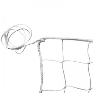 Сетка волейбольная , арт.FS-V №0, бел., 9.5х1м, нить 3,5 мм ПП, яч. 10 см., без верх. ленты, без троса, бел MADE IN RUSSIA