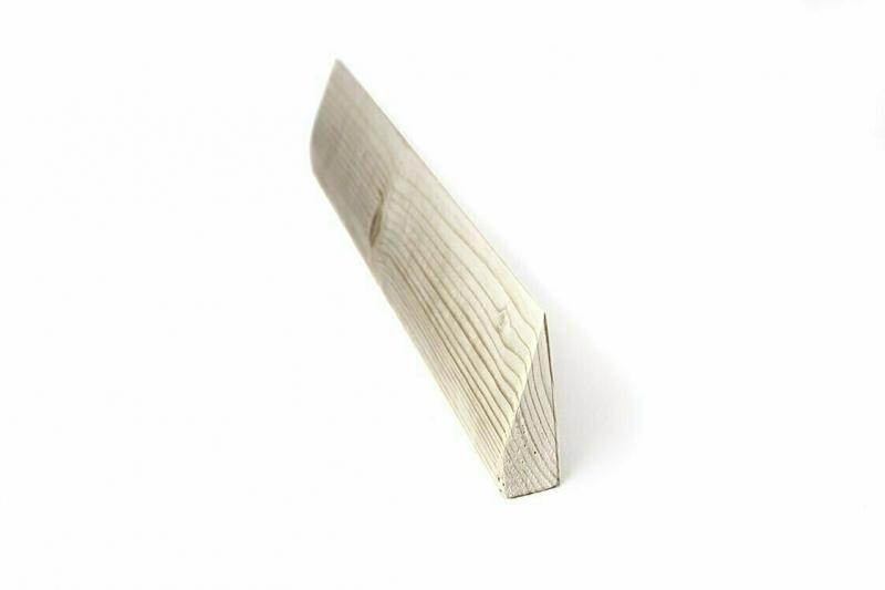 Планка деревянная шлифованная RamaYoga, 60x11x2.5 см, 1 кг