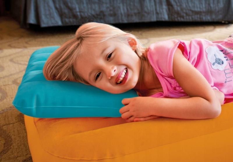 Подушка детская надувная 43х28х9см 68676
