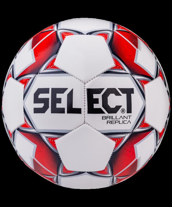 Мяч футбольный Brillant Replica 811608, №4, белый/красный/серый 1/25, Select