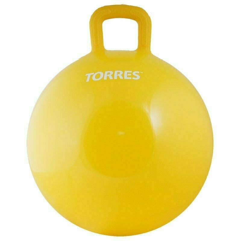 Мяч-попрыгун TORRES , арт.AL100545 с ручкой, диам. 45 см, эласт. ПВХ, с насосом, желтый