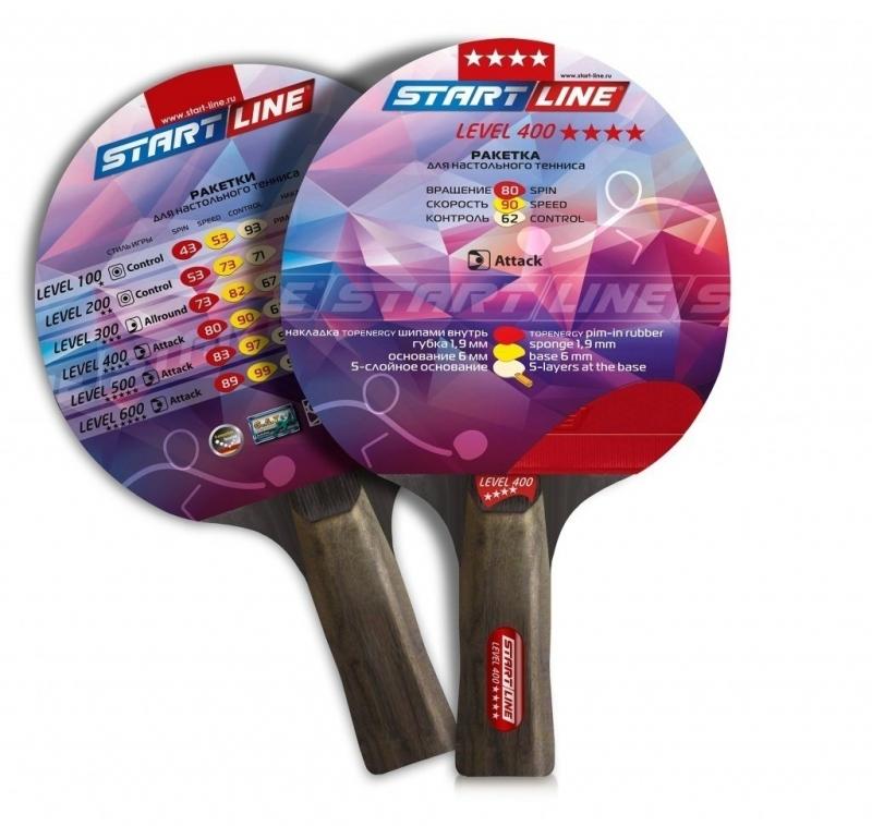 Ракетка для настольного тенниса START LINE Level 400 (коническая)