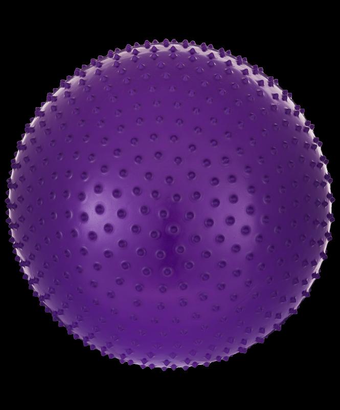 Мяч гимнастический массажный GB-301 65 см, антивзрыв, фиолетовый, Starfit