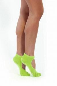 Носки противоскользящие для занятий йогой открытые, салатовые BRADEX SF 0349