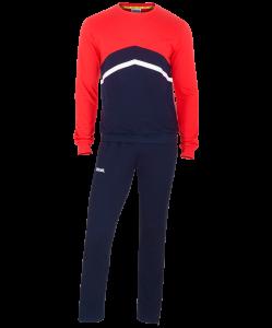 Тренировочный костюм JCS-4201-921, хлопок, темно-синий/красный/белый, Jögel