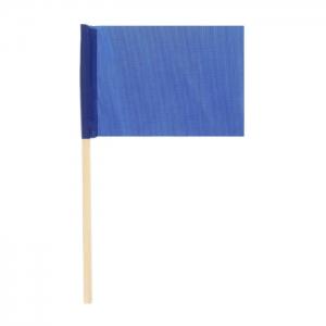 Флажок на деревянной палочке, синий