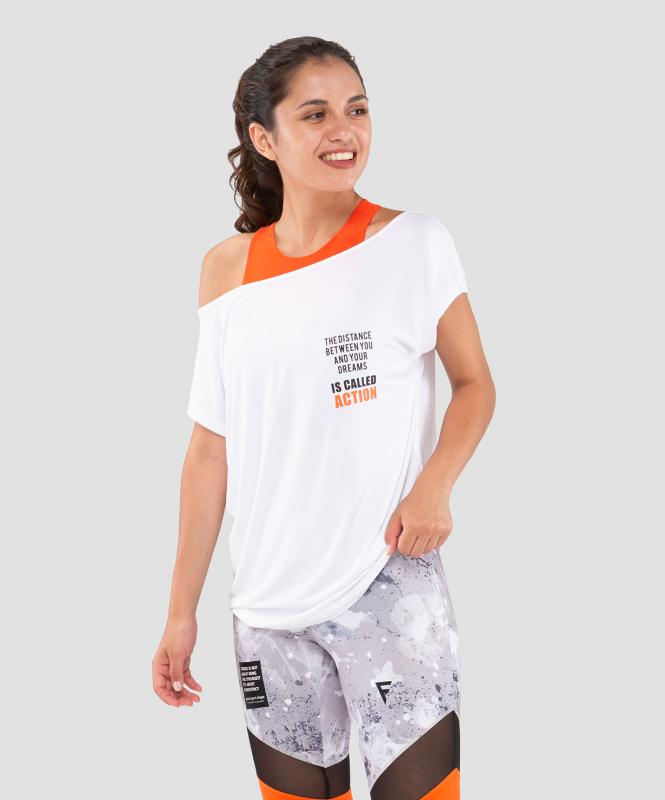Женская футболка Ease Off white FA-WT-0202-WHT, белый, FIFTY