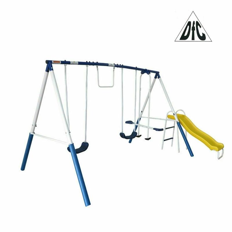 Детский комплекс DFC качели, качели-балансир, горка 74201