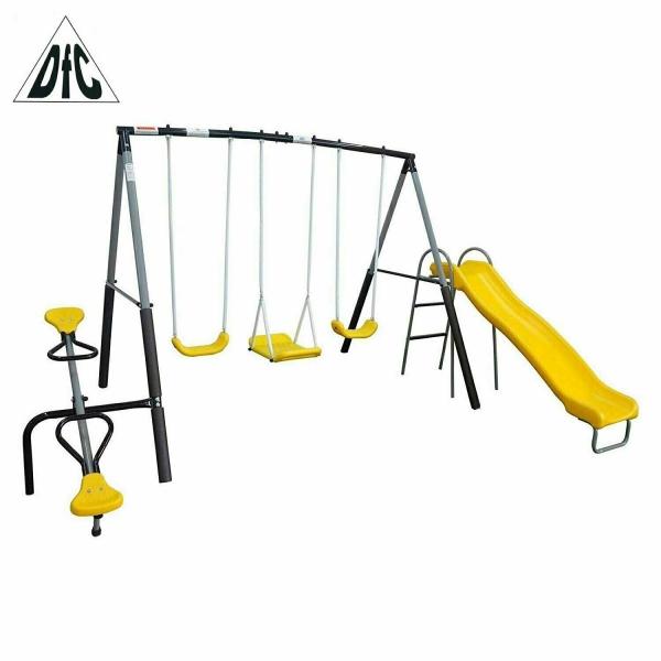 Детский комплекс DFC качели, качели-балансир и горка 74560,    НОВИНКА