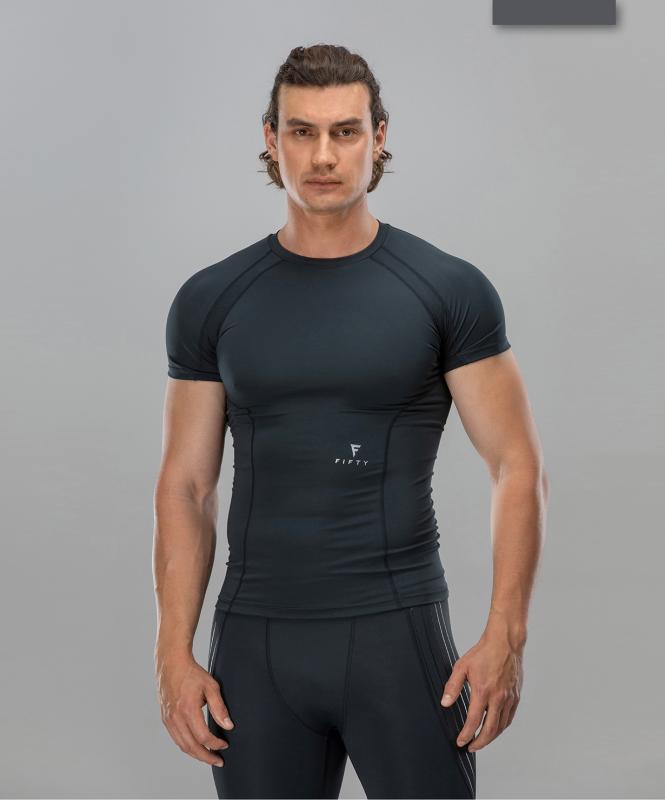 Мужская компрессионная футболка Intense PRO FA-MT-0101, черный, FIFTY