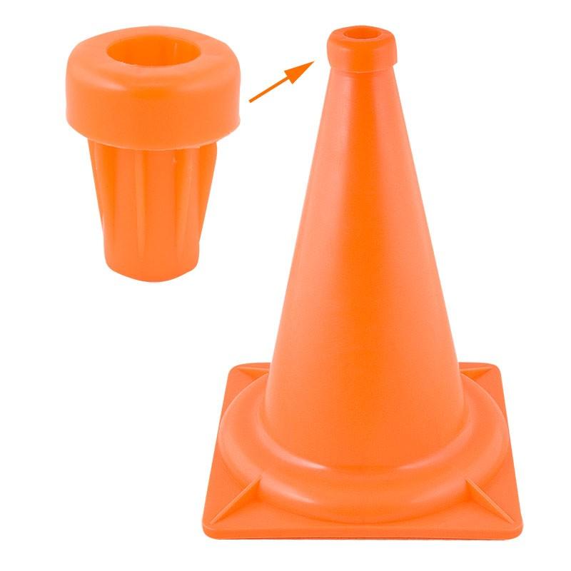 Втулка для конуса, арт.У646/MR-BK, диам. 2,4 см, для конус.MR-K32/46, жесткий пластик, оранжевый MADE IN RUSSIA