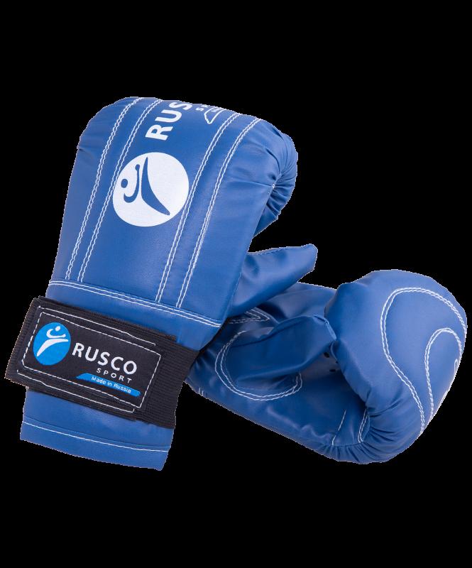 Перчатки снарядные, кожзам, синий, Rusco