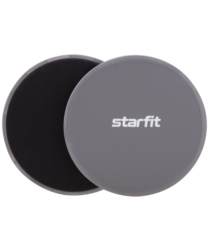 Слайдеры для фитнеса FS-101, серый/черный, Starfit