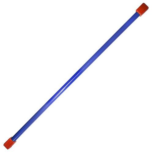Гимнастическая палка (бодибар), арт.MR-B05, вес 5кг, дл. 120 см, стальная труба, синий MADE IN RUSSIA