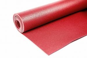 Коврик для йоги Инь Янь Студио RamaYoga бордо, 173x60x0.45 см, 1.2 кг