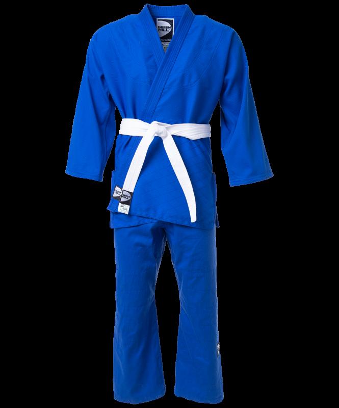 Кимоно для дзюдо JSST-10572, синий, р.1/140, Green Hill
