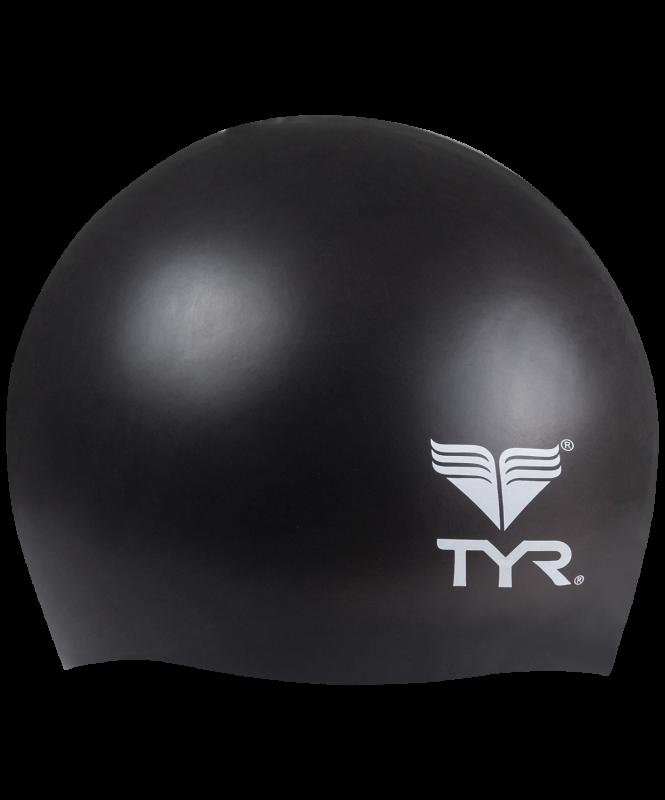 Шапочка плавательная Wrinkle Free Junior Silicone Cap, силикон, LCSJR/001, черный, TYR