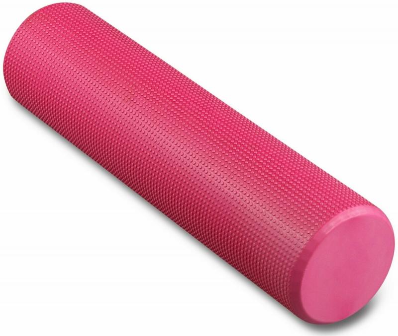 Ролик массажный для йоги INDIGO Foam roll IN022 15х60 см розовый