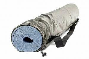Чехол для коврика Симпл с карманом RamaYoga хаки, 60 см, диам. 15 см, 0.1 кг