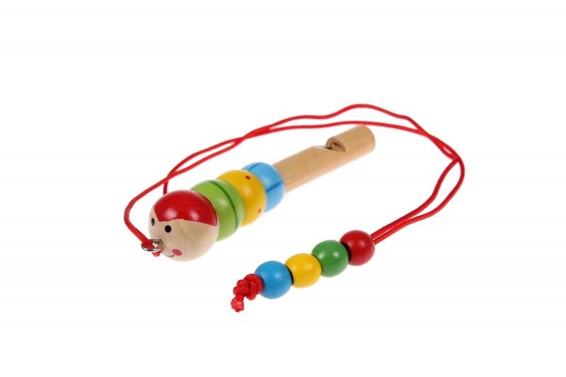 Свисток деревянный на шнурке «ГУСЕНИЦА» BRADEX DE 0511