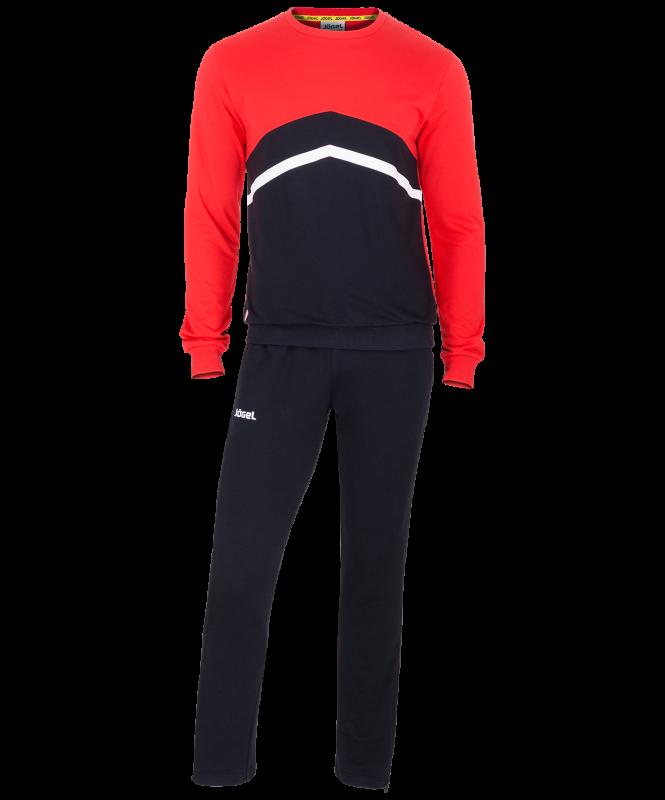 Тренировочный костюм детский JCS-4201-621, хлопок, черный/красный/белый, Jögel