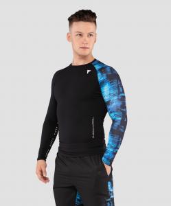 Мужская футболка с длинным рукавом Cyber Code FA-ML-0202-775, с принтом, FIFTY