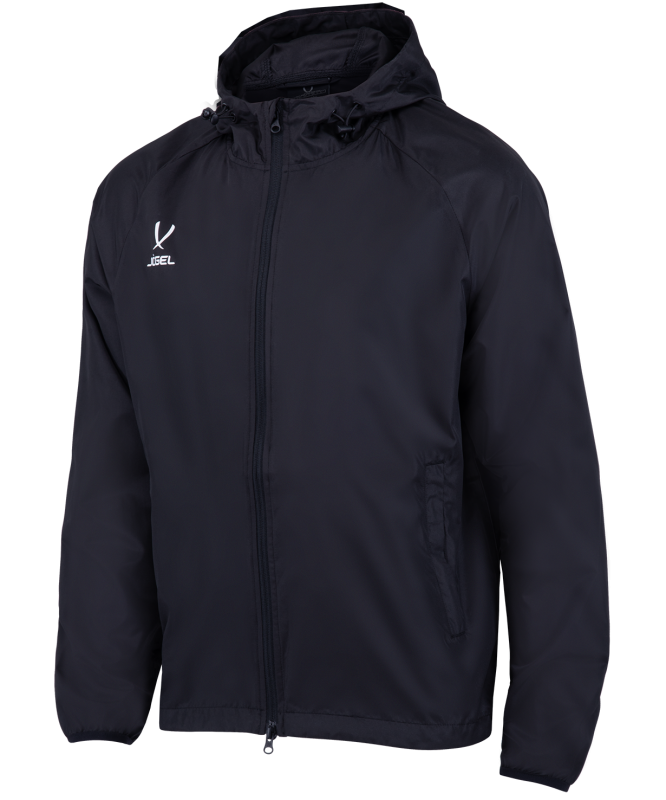 Куртка ветрозащитная детская CAMP Rain Jacket, черный, Jögel