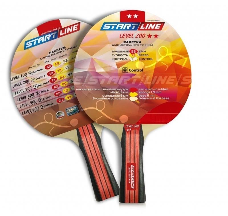Ракетка для настольного тенниса START LINE Level 200 (прямая)