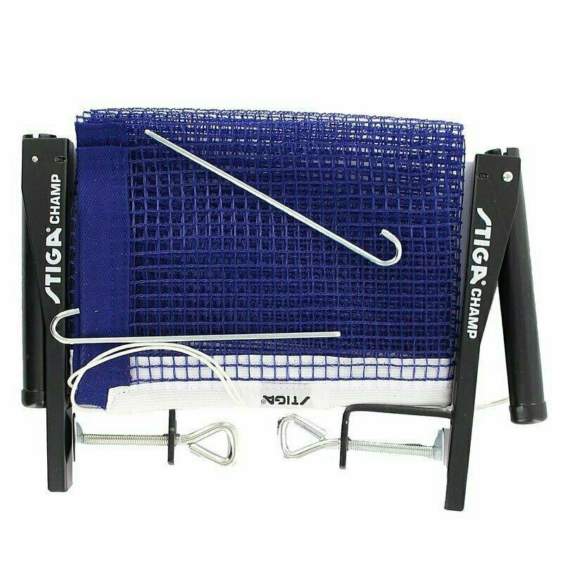 Сетка для настольного тенниса Stiga Champ, арт.6360-00 в компл. с мет. стойками, синяя