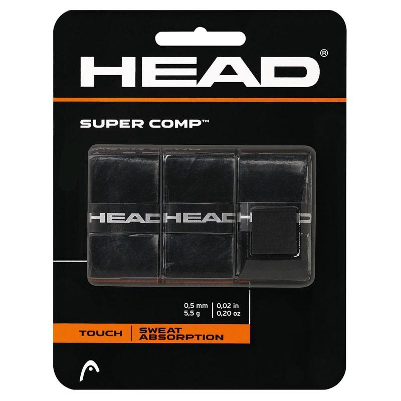Овергрип Head Super Comp (ЧЕРНЫЙ), арт.285088-BK, 0.5 мм, 3 шт, черный