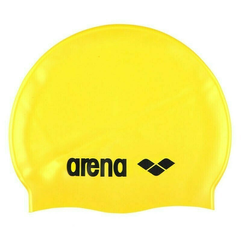 Шапочка для плавания  ARENA Classic Silicone , арт.9166235, ЖЕЛТЫЙ, силикон
