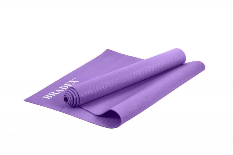 Коврик для йоги и фитнеса 173*61*0,3 фиолетовый BRADEX SF 0397