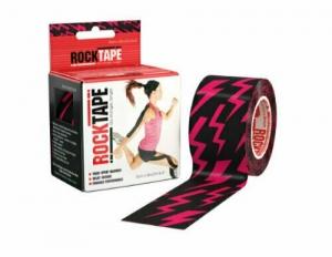 Кинезиотейп Rocktape Design, 5см х 5м, молния (Pink Lightning)